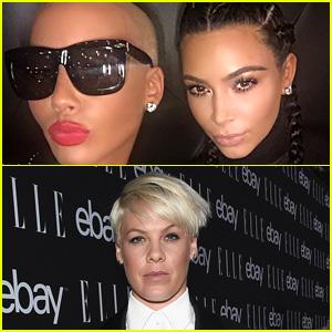 Amber Rose Slams Pink, Defends Kim Kardashian's NSFW Selfie