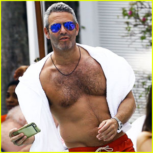 Andy Cohen Goes Shirtless for Easter Vacation in Miami