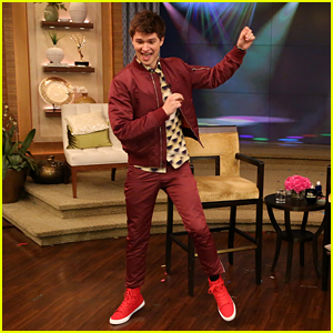Ansel Elgort Masters Dance Era Challenge on 'Live! With Kelly & Michael' - Watch Now!