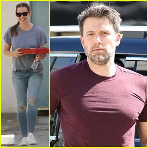Ben Affleck Grabs Pizza With Jennifer Garner in Santa Monica