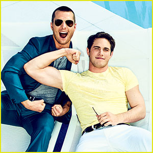 Blake Jenner Flexes His Muscles with Glen Powell for 'Glamour'