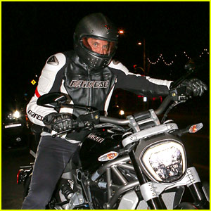 Bradley Cooper Dines with Sean Penn, Zooms Off on a Ducati