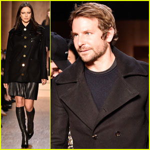 Bradley Cooper Watches Irina Shayk Walk in Givenchy Show