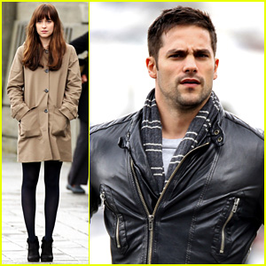Brant Daugherty Seen on 'Fifty Shades' Set for First Time!