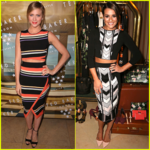 Brittany Snow & Lea Michele Stop by Ted Baker London's Six Star Style Launch Event