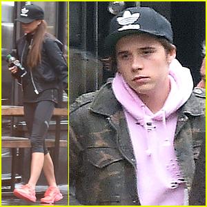 Brooklyn Beckham Enjoys A Burger with Mom Victoria Before Birthday