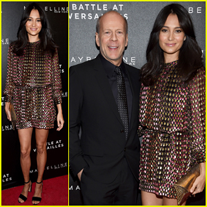 Bruce Willis & Wife Emma Heming Couple Up At 'Battle at Versailles' Premiere!