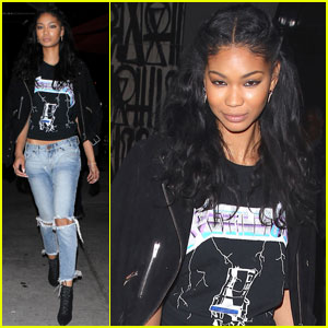 Chanel Iman Enjoys Her 'Jeans & T-Shirt Kind of Day'
