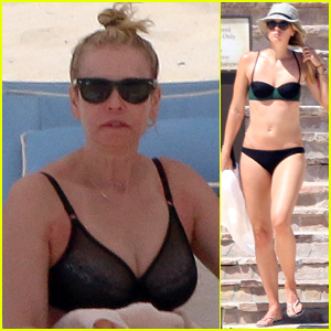 Chelsea Handler Wears Her Bra on the Beach After Forgetting Her Bikini!