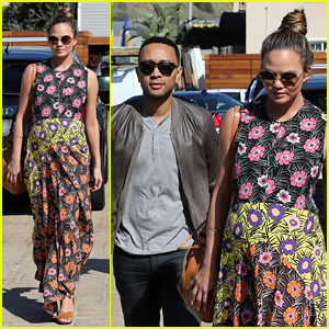 Chrissy Teigen & John Legend Enjoy Sunny Saturday Outing