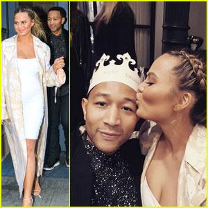 Chrissy Teigen Celebrates Her Bridal Shower With John Legend