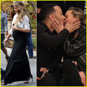 John Legend & Chrissy Teigen Show Off PDA at Lakers Game