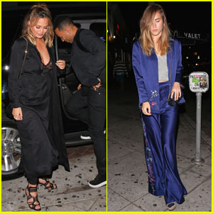 Chrissy Teigen & Suki Waterhouse Celebrate Lady Gaga's 30th!