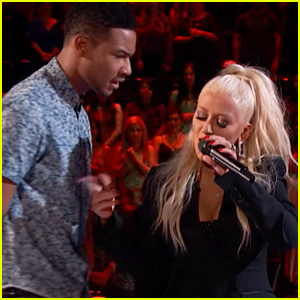 Christina Aguilera Duets with 'The Voice' Contestant Joe Maye During Blind Auditions - Watch Now!