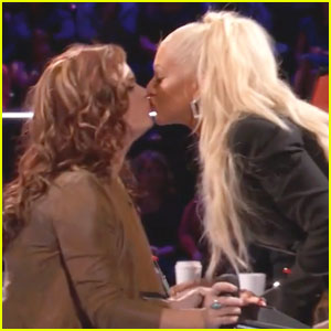 Christina Aguilera 'Makes Out' with 'The Voice' Singer (Video)