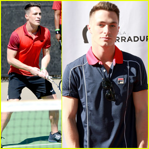 Colton Haynes Takes to the Tennis Courts for St. Jude Charity Event
