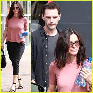 Courteney Cox & Ex-Fiance Johnny McDaid Reunite on Easter Sunday