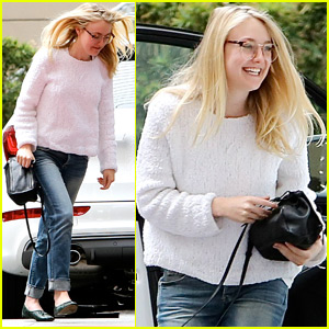 Dakota Fanning Goes Makeup-Free While Out in Hollywood