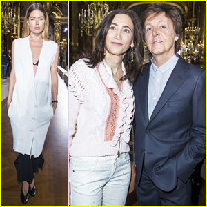 Doutzen Kroes Paul McCartney Wife Nancy Shevell Sit Front Row At Stella Show
