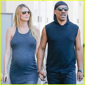 Eddie Murphy & Pregnant Girlfriend Paige Butcher Get Coffee