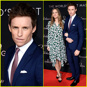 Eddie Redmayne Suits Up for Omega Event with Wife Hannah