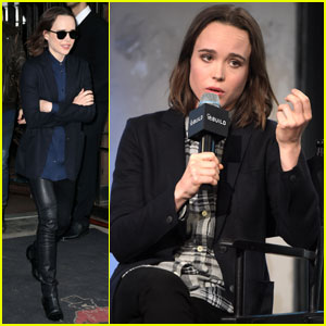 Ellen Page Promotes New Docu-Series 'Gaycation' in NYC