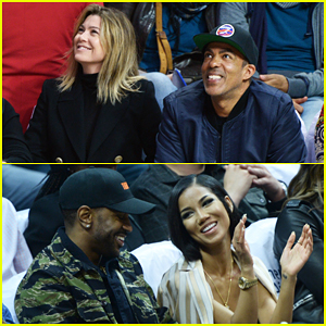 Ellen Pompeo & Big Sean Couple Up At L.A. Clippers Game!