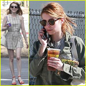 Emma Roberts Debuts New Brown Hair Color