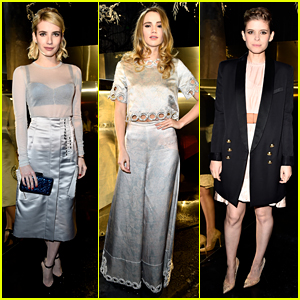 Emma Roberts & Suki Waterhouse Shimmer at H&M Fashion Week Show