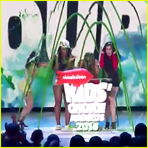 Fifth Harmony Gets Slimed at Kids Choice Awards 2016 - Watch Now!