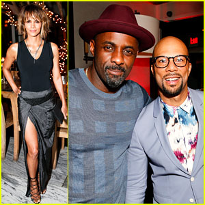 Halle Berry Stuns at Common's Toast to the Arts with Idris Elba