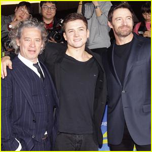 Hugh Jackman & Taron Egerton Get Warm South Korea Welcome for 'Eddie The Eagle'!
