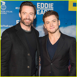 Hugh Jackman & Taron Egerton Celebrate 'Eddie The Eagle' with Chef Jamie Oliver!