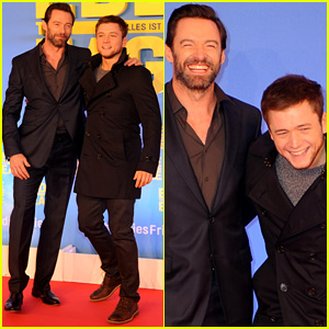 Hugh Jackman & Taron Egerton Continue 'Eddie the Eagle' Press Tour