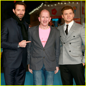 Hugh Jackman & Taron Egerton Get Support From Real Life 'Eddie The Eagle' At London Premiere!
