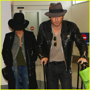 Ian Somerhalder Jets Out of Los Angeles With Nikki Reed