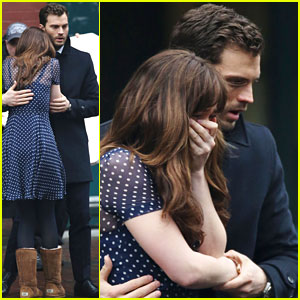 Jamie Dornan Consoles an Upset Dakota Johnson for 'Fifty Shades Darker' Scene