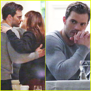 Jamie Dornan & Dakota Johnson Dine Out for 'Fifty Shades'