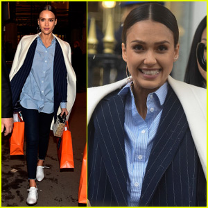 Jessica Alba Has a Shopping Day in Paris After Fashion Week