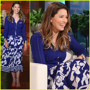 Jessica Biel Shoots Down Pregnancy Rumors on 'Ellen' (Video)
