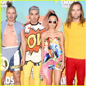 Joe Jonas & DNCE Arrive at the Kids Choice Awards 2016 Orange Carpet