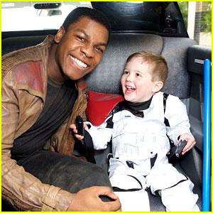 John Boyega Dresses as Finn to Visit Children's Hospital!