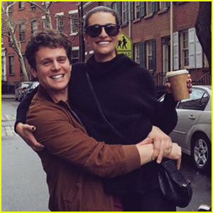 Lea Michele is the 'Happiest Girl in the World' With Jonathan Groff