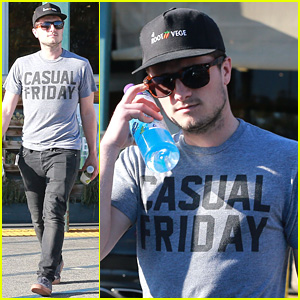 Josh Hutcherson Stops By Whole Foods on Easter Sunday
