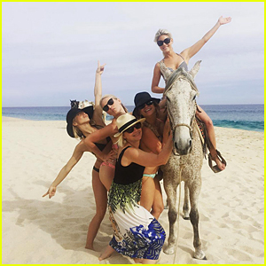 Julianne Hough Parties With Mom & Sisters in Cabo