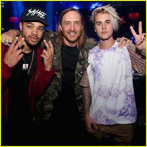 Justin Bieber Joins David Guetta In DJ Booth at Wynn Las Vegas