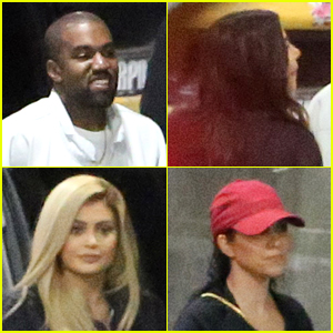 Kanye West, Kim Kardashian & Sisters Hit Up Justin Bieber Concert