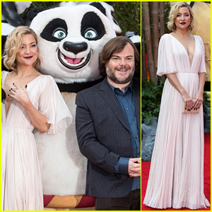 Kate Hudson & Jack Black Premiere 'Kung Fu Panda 3' in London!