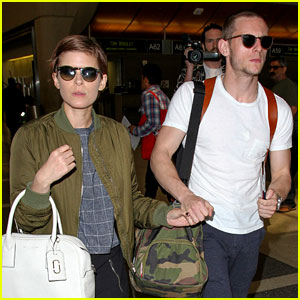 Kate Mara & Jamie Bell Hold Hands for Flight Out of Town