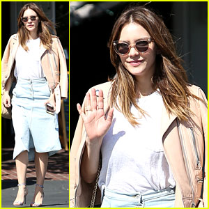 Katharine McPhee Shares a 'Creeper' Photo from 'Scorpion' Set